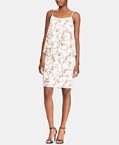1f0448ea Lauren Ralph Lauren Petite Floral-Print Asymmetrical Overlay Dress