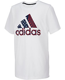 adidas Toddler Boys Logo-Print Cotton T-Shirt