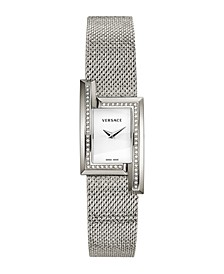 Women's Greca Icon Stainless Steel Mesh Bracelet Watch 39 x 21 mm