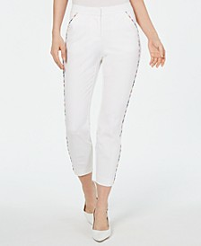 Rainbow-Trim Slim Ankle Pants, Created for Macy's