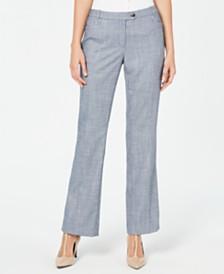 Calvin Klein Petite Denim Modern Straight-Leg Pants