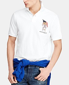 Men's Classic Fit USA Bear Polo Shirt