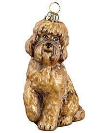 Joy to the World Brown Labradoodle Pet Charity Ornament