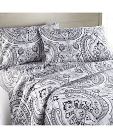 Southshore Fine Linens Pure Melody Classic Paisley Sheet Set, California King