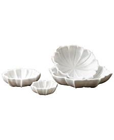 Global Views Marble Petal Bowl Small