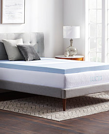 "Dream Collection by LUCID 2"" Ventilated Gel Memory Foam Topper, Cal King"
