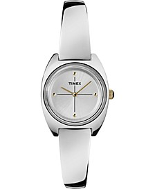 Timex Milano Semi-Bangle 24mm Stainless Steel Case and Bracelet Watch