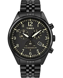 Timex Waterbury Traditional Chronograph 42mm Stainless Steel Black Bracelet Watch