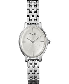 Timex Milano Oval 24mm Stainless Steel Bracelet Watch