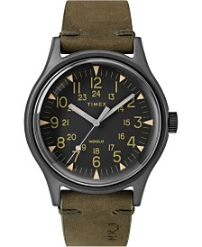 Timex Mk1 Steel 40mm Leather Strap Watch