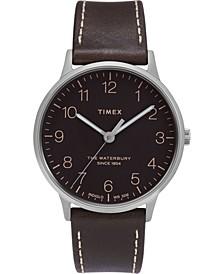 Waterbury Classic 40mm Dark Brown Leather Strap Watch