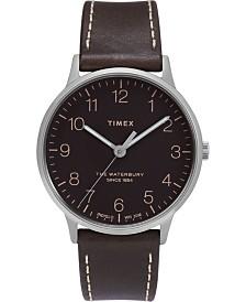 Timex Waterbury Classic 40mm Dark Brown Leather Strap Watch