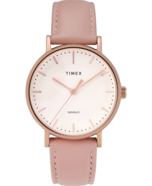 Timex FAIRFIELD 37MM LEATHER STRAP WATCH