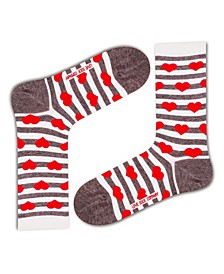 Women's Socks - Red Hearts
