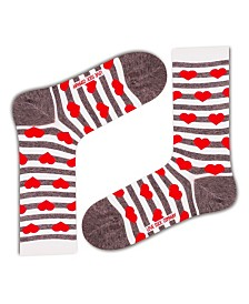 Love Sock Company Women's Socks - Red Hearts