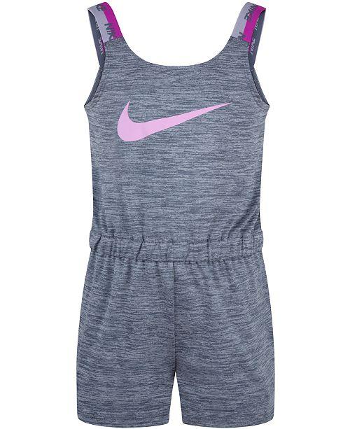 Nike Little Girls Dri-FIT Cross-Dye Sports Romper