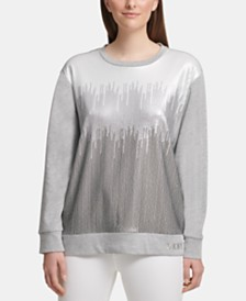 DKNY Ombré Sequinned Sweatshirt