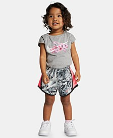 Little Girls Wonderland Swoosh Logo T-Shirt