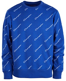 Champion Big Boys Script Logo French Terry Sweatshirt