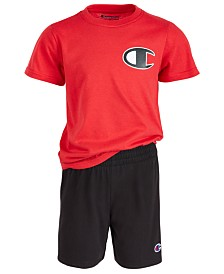 Champion Little Boys 2-Pc. Logo T-Shirt & Shorts Set
