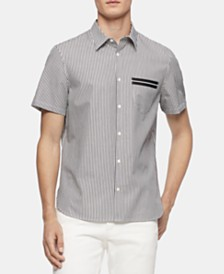 Calvin Klein Men's Stripe-Pocket Shirt