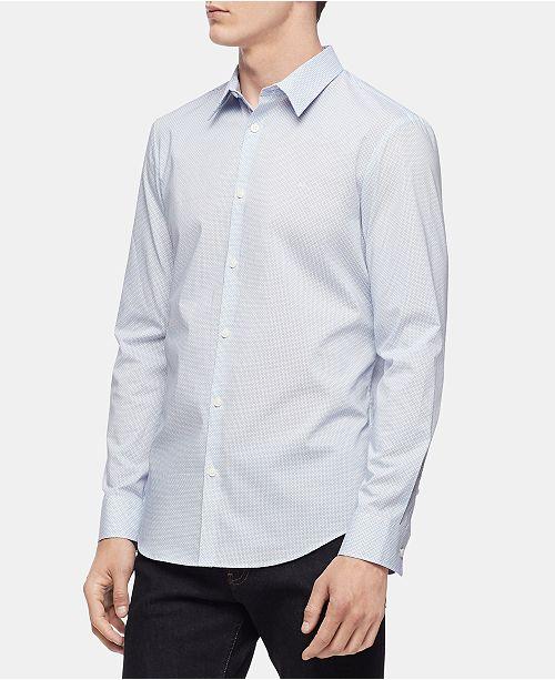 Calvin Klein Men's Geo Print Slim Fit Shirt