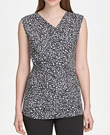 Printed Ruched-Side Top