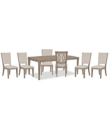 Venue Dining Furniture, 7-Pc. Set (Table & 6 Side Chairs)