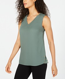 JM Collection Grommet-Trim Top, Created for Macy's