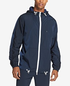 DKNY Men's Logo-Print Hooded Jacket