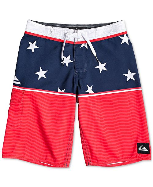 e153aa6da1 Quiksilver Toddler Boys Stars & Stripes Swim Trunks & Reviews ...