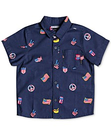 Quicksilver Little Boys Merica Regular-Fit Printed Shirt