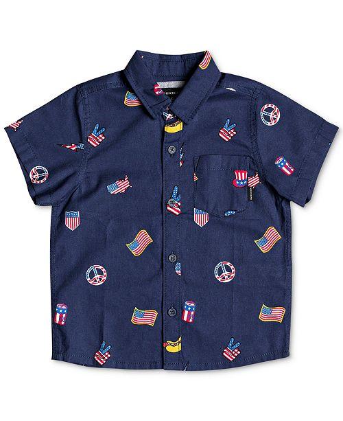 Quiksilver Quicksilver Little Boys Merica Regular-Fit Printed Shirt