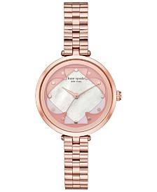 kate spade new york Women's Annadale Rose Gold-Tone Stainless Steel Bracelet Watch 34mm