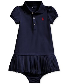 Polo Ralph Lauren Baby Girls Pleated Cotton Polo Dress