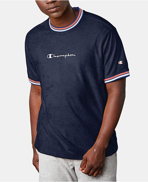 5ca3996b1e91 Champion Men's C-Life Terry Ringer T-Shirt & Reviews - Casual Button ...