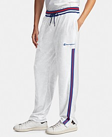 Men's C-Life Varsity-Stripe Terry Warm-Up Pants