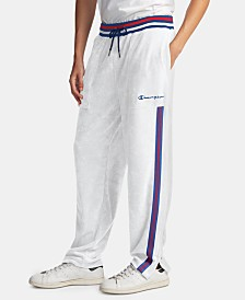 Champion Men's C-Life Varsity-Stripe Terry Warm-Up Pants