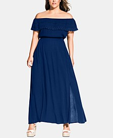 Trendy Plus Size Tropicana Maxi Dress