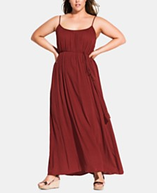 City Chic Plus Size Paradise Maxi Dress