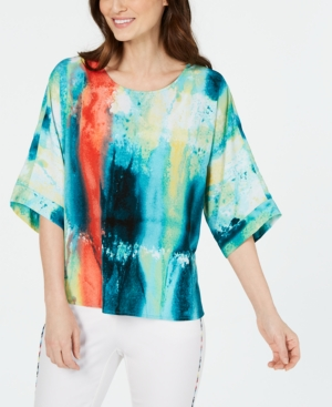 Image of Alfani Abstract-Print Blouse, Created for Macy's