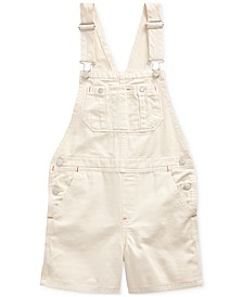 Big Girls Floral-Print Denim Cotton Overalls