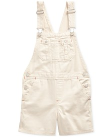 Polo Ralph Lauren Big Girls Floral-Print Denim Cotton Overalls