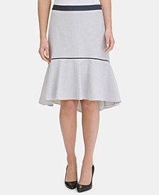 Contrast-Trim Ruffled Skirt, Created for Macy's