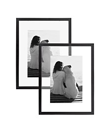 DesignOvation Gallery Float Glass Picture Frame, Set of 2