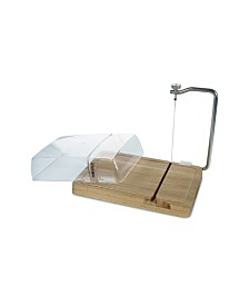 Cheese Board With Wire Cutter and Cover