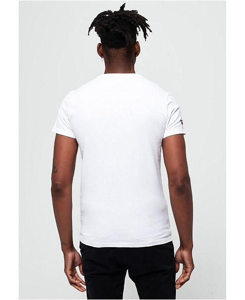 Vintage Logo Layered Camouflage Logo T Shirt White 01C