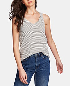 Sleeveless Printed Twisted-Strap Top