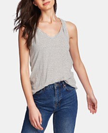 1.STATE Sleeveless Printed Twisted-Strap Top