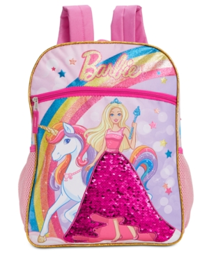 Image of Accessory Innovations Little & Big Girls Barbie Brushed Sequin Backpack